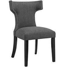 Curve Fabric Dining Chair, Grey, Fabric 10712