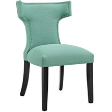 Curve Fabric Dining Chair, Blue, Fabric 10713