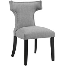 Curve Fabric Dining Chair, Grey, Fabric 10714