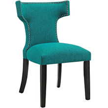 Curve Fabric Dining Chair, Blue, Fabric 10716