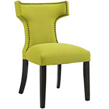 Curve Fabric Dining Chair, Green, Fabric 10717