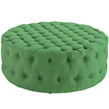 Amour Upholstered Fabric Ottoman, Green, Fabric 10738
