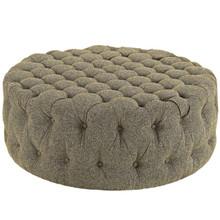 Amour Upholstered Fabric Ottoman, Grey, Fabric 10742