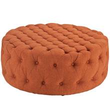Amour Upholstered Fabric Ottoman, Orange, Fabric 10743