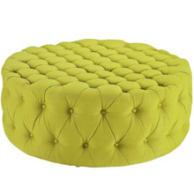 Amour Upholstered Fabric Ottoman, Green, Fabric 10746