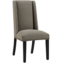 Baron Fabric Dining Chair, Grey, Fabric 10791