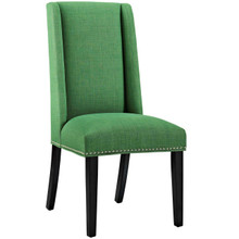 Baron Fabric Dining Chair, Green, Fabric 10792