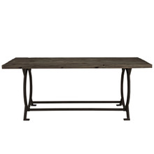 Effuse Rustic Wood & Cast Iron Dining Table