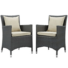 Sojourn Dining Chair ( Set of Two), Beige, Rattan 10822