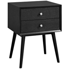 Dispatch Nightstand, Black, Wood 10924