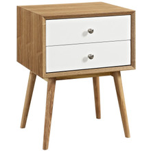 Dispatch Nightstand, White, Wood 10926
