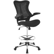 Charge Drafting Chair, Black, Fabric 10930