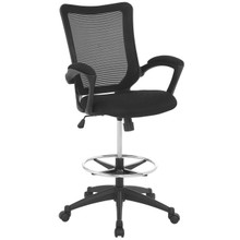 Project Drafting Chair, Black, Fabric 10931