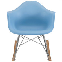 Rocker Kids Chair, Blue, Plastic 10935