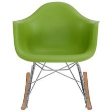 Rocker Kids Chair, Green, Plastic 10936