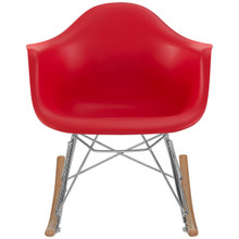 Rocker Kids Chair, Red, Plastic 10938