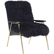 Sprint Wool Armchair, Black, Fabric 10946