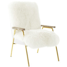 Sprint Wool Armchair, White, Fabric 10948