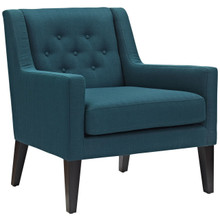 Earnest Upholstered Fabric Armchair, Navy, Fabric 10955