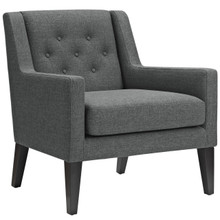Earnest Upholstered Fabric Armchair, Grey, Fabric 10956