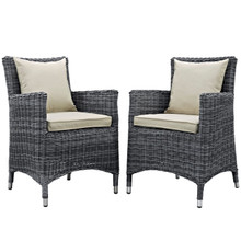 Summon Dining Chair ( Set of Two), Beige, Rattan 10969