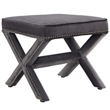 Rivet Bench, Grey, Fabric 11008
