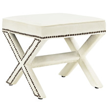 Rivet Bench, White, Fabric 11009