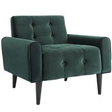 Delve Velvet Armchair, Green, Fabric 11012