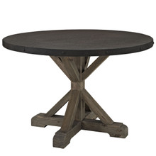 Stitch Wood Top Dining Table in Brown