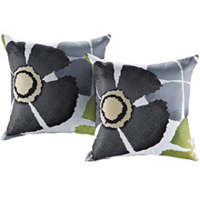 Modway Two Piece Outdoor Patio Pillow Set, Multi, Fabric 11209