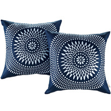 Modway Two Piece Outdoor Patio Pillow Set, Multi, Fabric 11210