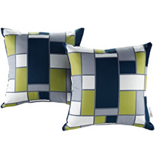 Modway Two Piece Outdoor Patio Pillow Set, Multi, Fabric 11215