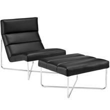 Reach Living Room Set Set of 2, Black, Fabric 11244
