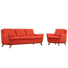 Beguile Living Room Set Upholstered Fabric Set of 2, Red, Fabric 11319