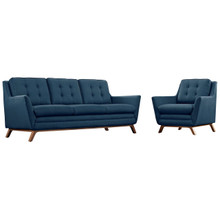 Beguile Living Room Set Upholstered Fabric Set of 2, Navy, Fabric 11320