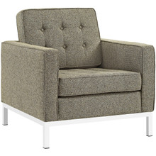 Loft Living Room Set Upholstered Fabric Set of 3, Grey, Fabric 11370