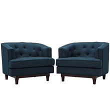 Coast Armchairs Set of 2, Navy, Fabric 11421