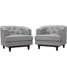 Coast Armchairs Set of 2, Grey, Fabric 11424