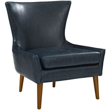 Keen Upholstered Vinyl Armchair, Blue, Faux Leather 11459
