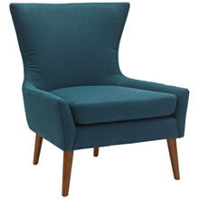 Keen Upholstered Fabric Armchair, Navy, Fabric 11462