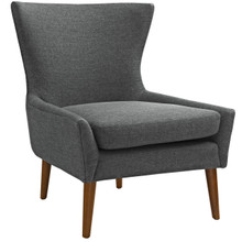 Keen Upholstered Fabric Armchair, Grey, Fabric 11463