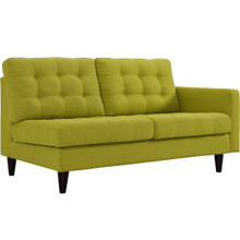 Empress Right-Facing Upholstered Fabric Loveseat, Green, Fabric 11594