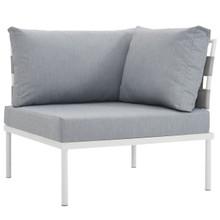 Harmony Outdoor Patio Aluminum Corner Sofa, Grey, Rattan 11616
