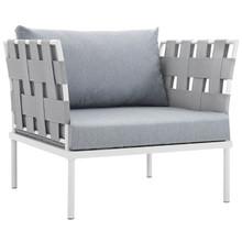 Harmony Outdoor Patio Aluminum Armchair, Grey, Rattan 11620