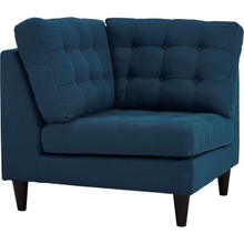 Empress Upholstered Fabric Corner Sofa, Navy, Fabric 11635
