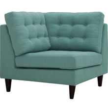 Empress Upholstered Fabric Corner Sofa, Blue, Fabric 11638
