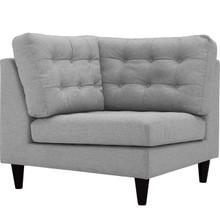Empress Upholstered Fabric Corner Sofa, Grey, Fabric 11639