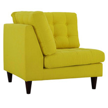 Empress Upholstered Fabric Corner Sofa, Yellow, Fabric 11641