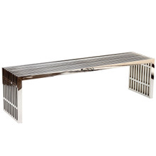 Gridiron Large Bench in Silver