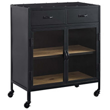 Charm Cabinet, Black, Wood 11715